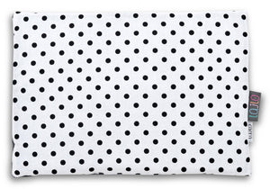 BLACK DOTTY NEWBORN BLANKET SET WITH MINKY