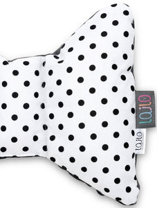 BLACK DOTTY HEAD SUPPORT PILLOW