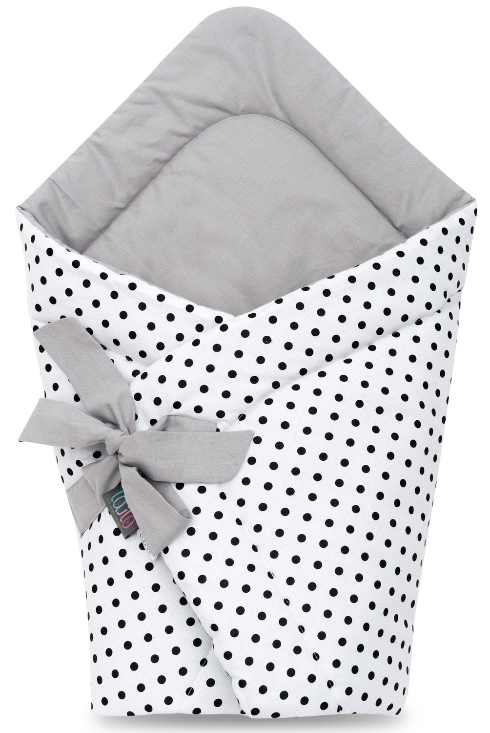 BLACK DOTTY SWADDLE BLANKET