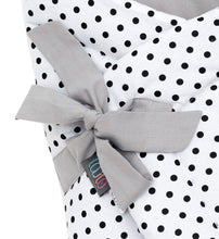 Load image into Gallery viewer, BLACK DOTTY SWADDLE BLANKET
