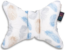 Load image into Gallery viewer, BLUE FEATHERS HEAD SUPPORT PILLOW