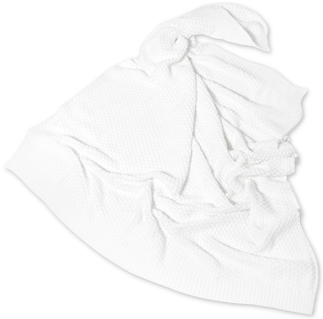 BRIGHT WHITE BAMBOO BLANKET