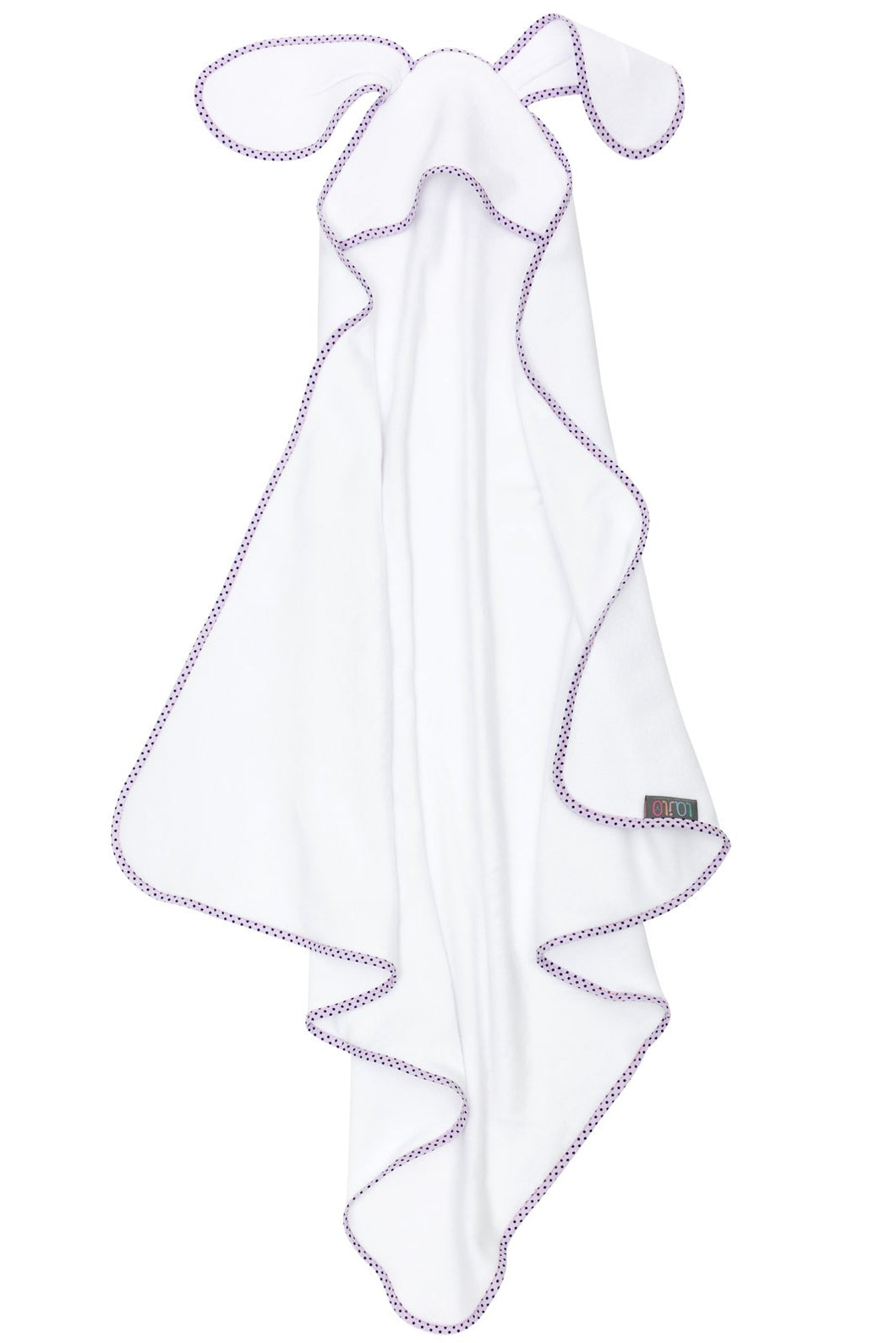 BUNNY STAR HOODED BABY TOWEL LILAC