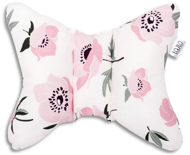 CORAL FLOWERS HEAD SUPPORT PILLOW
