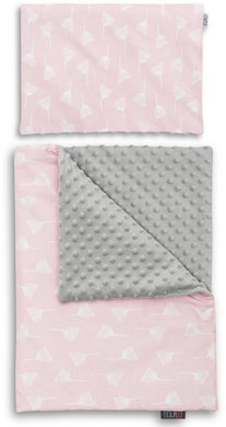 DANDELION NEWBORN BLANKET SET WITH MINKY