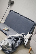 Load image into Gallery viewer, High quality grey square edge play mat made by Lajlo