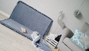 High quality grey square edge play mat made by Lajlo