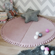 Load image into Gallery viewer, pink velvet round play mat