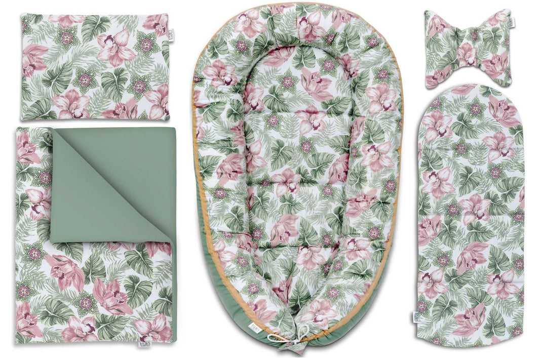 FLORAL BABY NEST 5 ELEMENTS SET