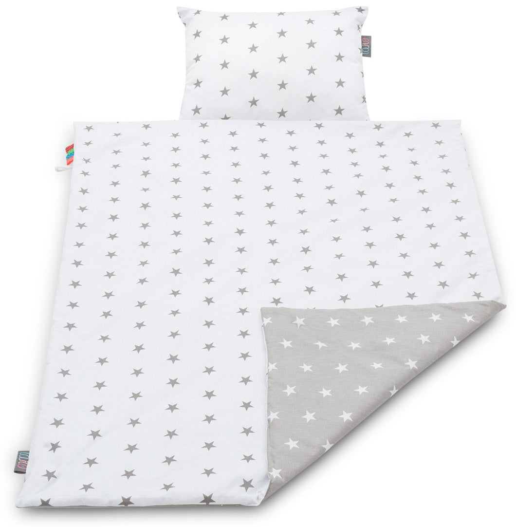 GREY STARS BLANKET SET