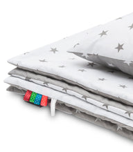 Load image into Gallery viewer, GREY STARS BLANKET SET