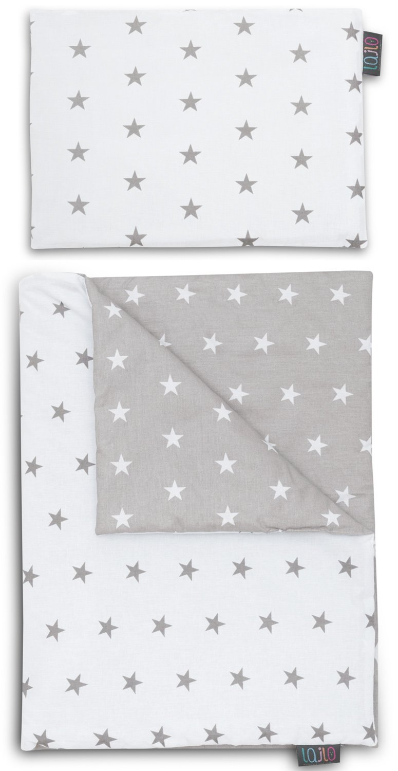 GREY STARS NEWBORN BLANKET SET