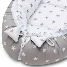 Load image into Gallery viewer, GREY STARS BABY NEST 5 ELEMENTS SET