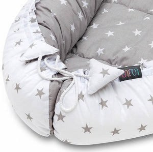 GREY STARS BABY NEST 5 ELEMENTS SET