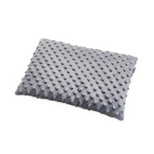 Load image into Gallery viewer, BLACK DOTTY BABY PILLOW WITH MINKY