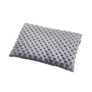 BLACK DOTTY BABY PILLOW WITH MINKY
