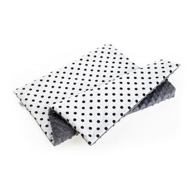 BLACK DOTTY BABY BLANKET WITH MINKY