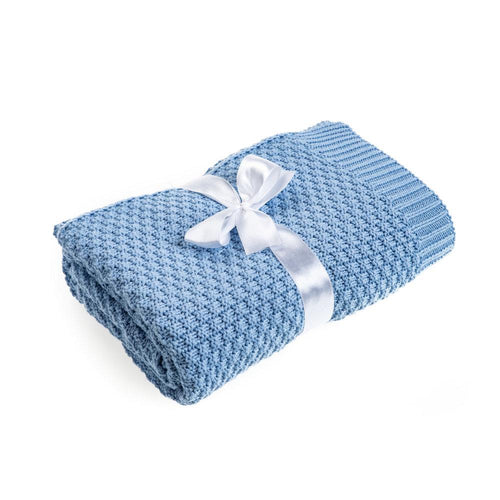 High quality blue bamboo blanket made by Lajlo