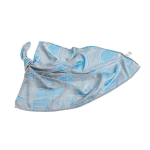BUY GREY & BLUE BAMBOO MUSLIN SQUARE