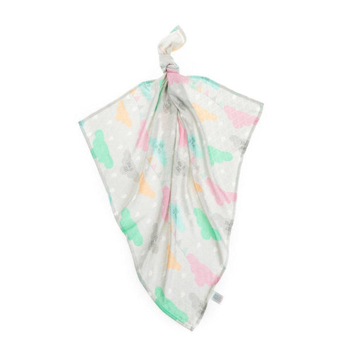 High quality colorful bamboo muslin square with clouds made by Lajlo