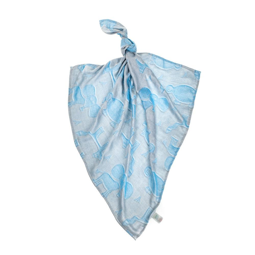 GREY & BLUE BAMBOO MUSLIN SQUARE