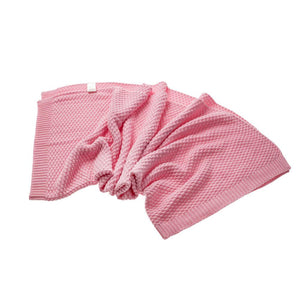 pink bamboo blanket baby size