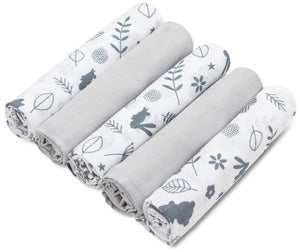 LITTLE FOREST MUSLIN SQUARE- 5 PACKS