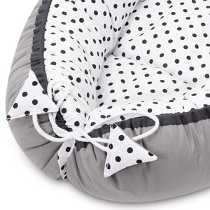 BLACK DOTTY BABY NEST