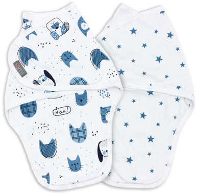 LUCKY SWADDLE WRAP PACK OF 2 0-3 MONTHS