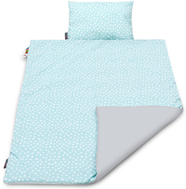 MINT DOTTY BLANKET SET
