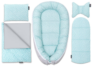 MINT DOTTY BABY NEST 5 ELEMENTS SET