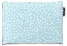 Load image into Gallery viewer, MINT DOTTY FLAT PILLOW FOR NEWBORN WITH MINKY