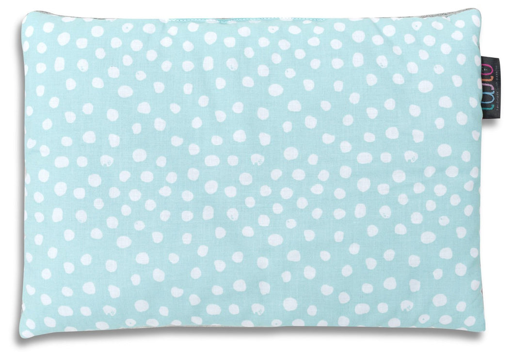 MINT DOTTY FLAT PILLOW FOR NEWBORN WITH MINKY
