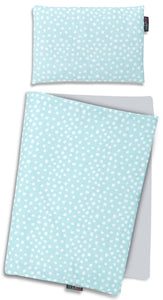 MINT DOTTY NEWBORN BLANKET SET