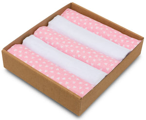 NATURAL LOVE MUSLIN SQUARE- 5 PACKS