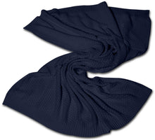Load image into Gallery viewer, NAVY BAMBOO BLANKET