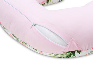 PINK BLOSSOM NURSING PILLOW WITH REMOVABLE COVER