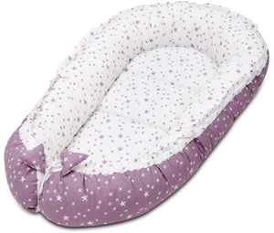 LILAC AND PURPLE STARS BABY NEST