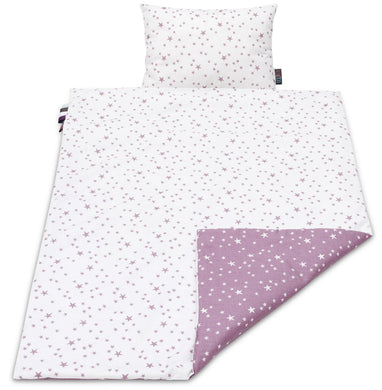 LILAC AND PURPLE STARS BLANKET SET
