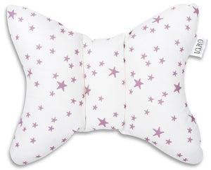LILAC AND PURPLE STARS HEAD SUPPORT PILLOW
