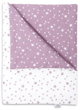 Load image into Gallery viewer, LILAC AND PURPLE STARS NEWBORN BLANKET SET