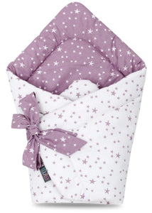 LILAC AND PURPLE STARS SWADDLE BLANKET