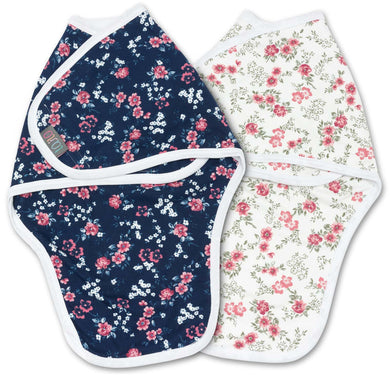 RETRO SWADDLE WRAP PACK OF 2 0-3 MONTHS