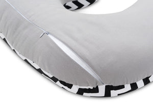 ZIG ZAG NURSING PILLOW WITH REMOVABLE COVER