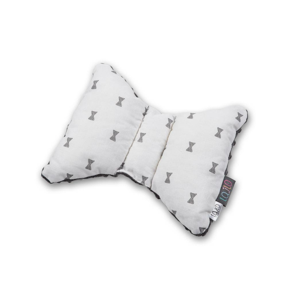 GREY BOWS HEAD SUPPORT PILLOW