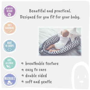 LILAC AND PURPLE STARS BABY NEST 5 ELEMENTS SET