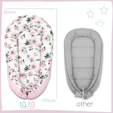 Load image into Gallery viewer, LILAC AND PURPLE STARS BABY NEST 5 ELEMENTS SET
