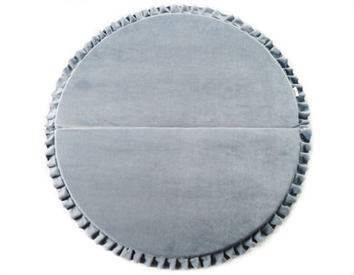 GREY ROUND EDGE LUXURY MAT