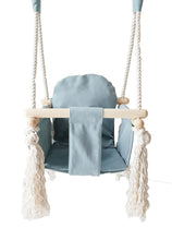 Load image into Gallery viewer, VELVET BUNNY WOODEN SWING