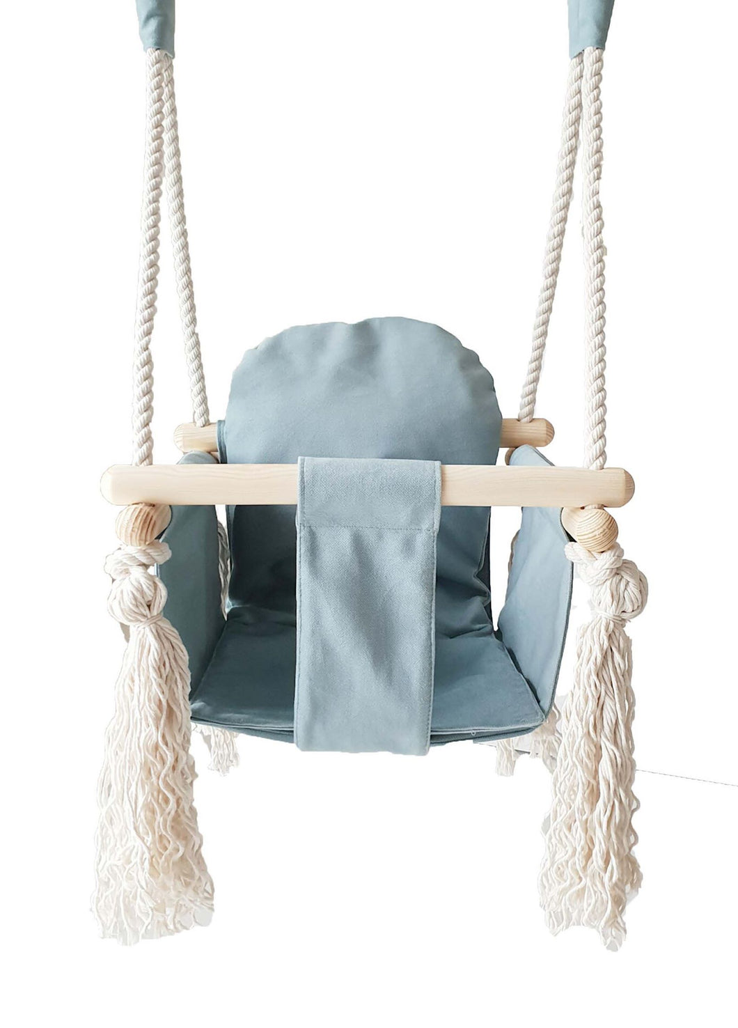 VELVET BUNNY WOODEN SWING